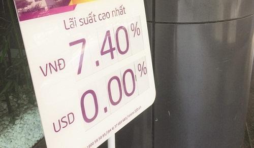 Lãi suất ngân hàng: Cửa giảm không thấy, cửa tăng rập rình